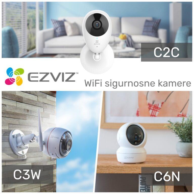 Vrhunske EZVIZ WiFi sigurnosne kamere