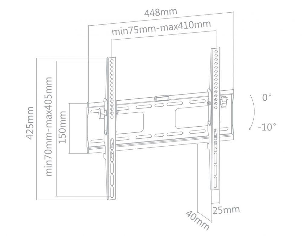 LCD OLED LED TV zidni nosači zglobni