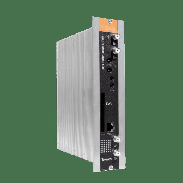 Televes transmodulator sa DVB-T2 (HEVC) na DVB-T za ugostiteljske sustave i pribor za ugradnju